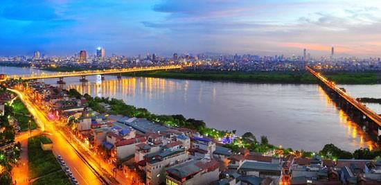 Hướng View sông Hồng tuyệt đẹp tại Chung Cư Tây Hồ River View