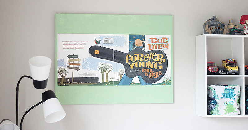 How to Turn a Book Dust Jacket into DIY Wall Art | Sunny Day Family