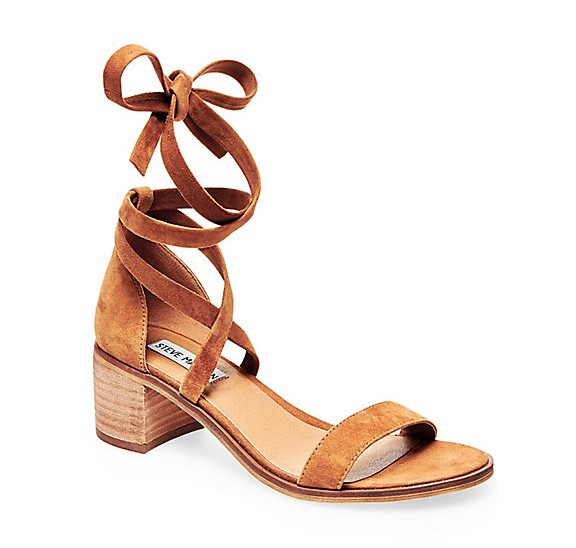 Steve Madden Rizzaa Lace Up Heeled Sandal Aquazzura