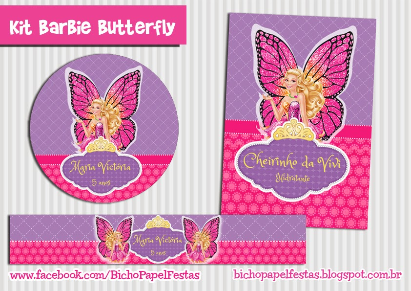 Kit Festa Barbie Butterfly