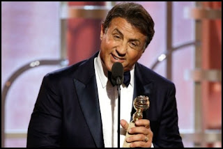 Sylvester Stallone en los Globos de Oro 2016