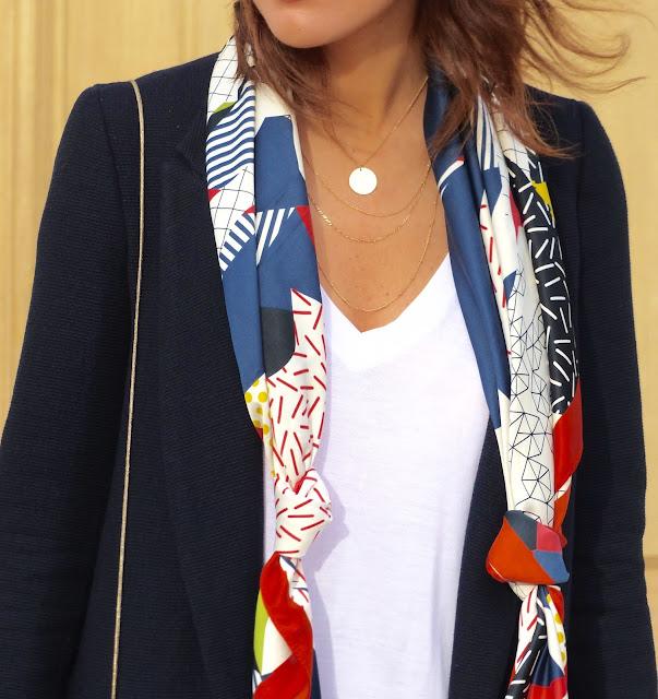 foulard bleu rouge blanc promod