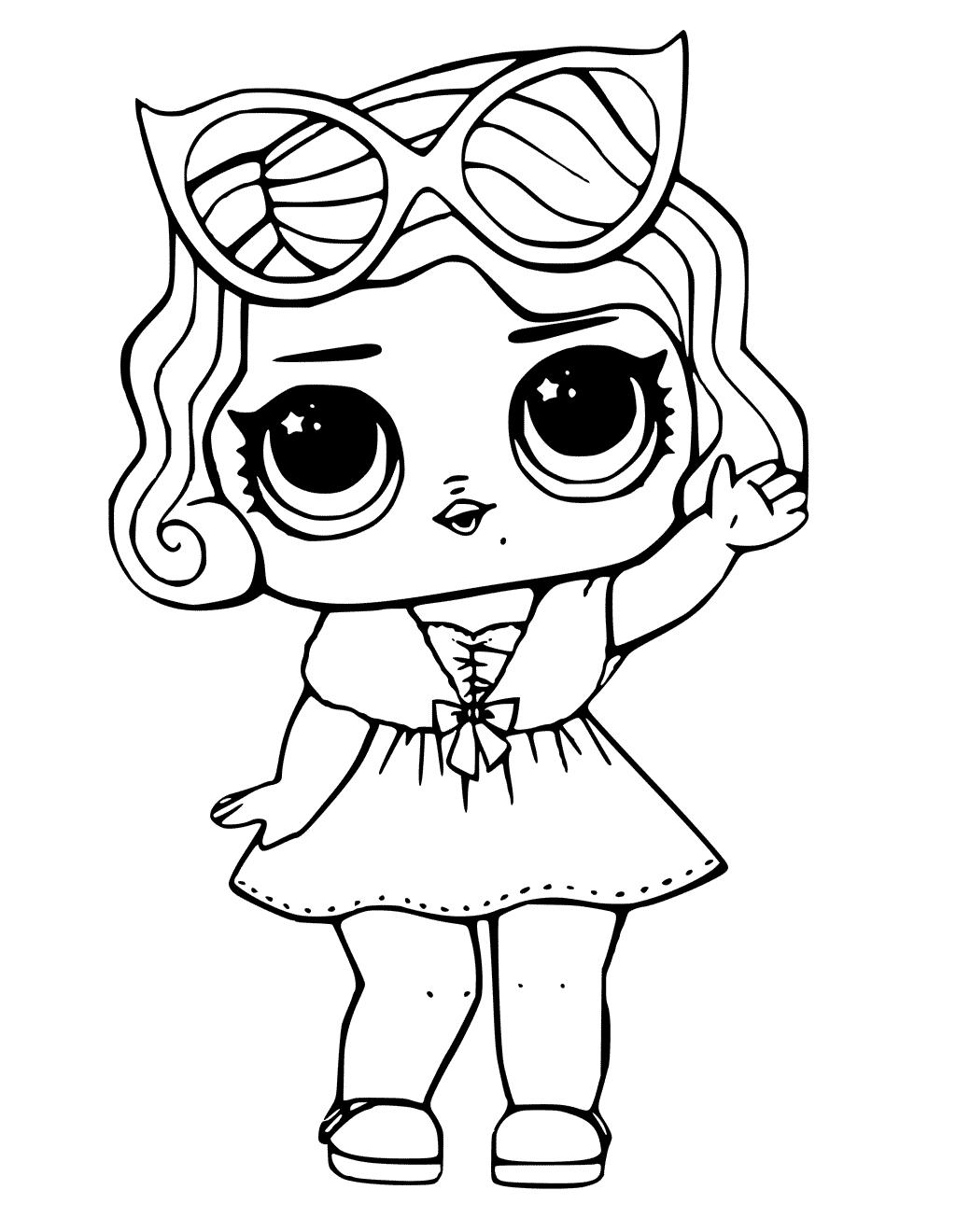 Desenhos para colorir da boneca