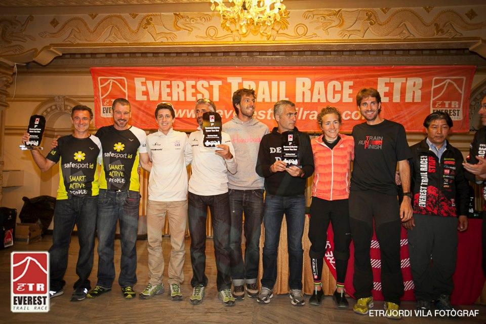 Jordi y Joel Aubeso, en la Everest Trail Race de 2012. /JORDI VILA