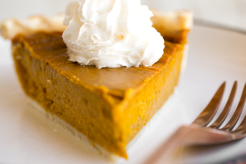 Simple Vegan Pumpkin Pie with whipped cream
