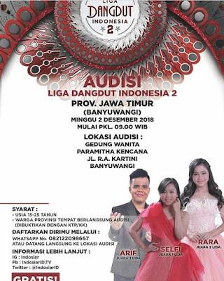 audisi liga dangdut indonesia musim 2