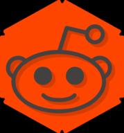 reddit hexagon icon