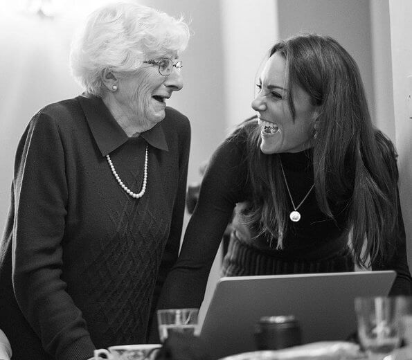 Kate Middleton met two Holocaust survivors, Steven Frank and Yvonne Bernstein. Holocaust Memorial Day Trust and Royal Photographic Society