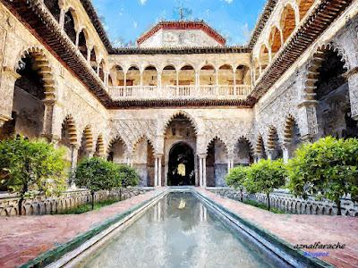 Sevilla - Real Alcázar - Patio de las Doncellas