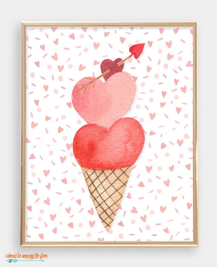 Heart Ice Cream Printable