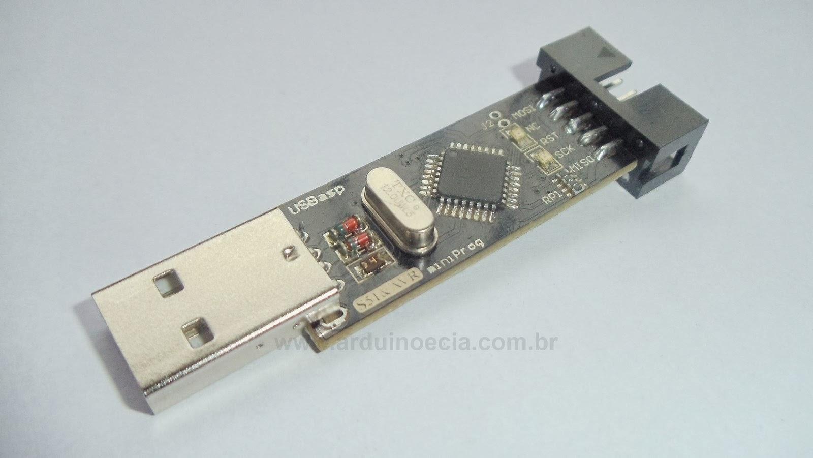 Gravador Avr Usbasp Arduino E Cia Atmel Usb Programmer Circuit Zif Socket Atmega8 4