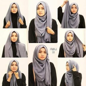 Tutorial Hijab Segi Empat Mode Caual Modern Jaman Now
