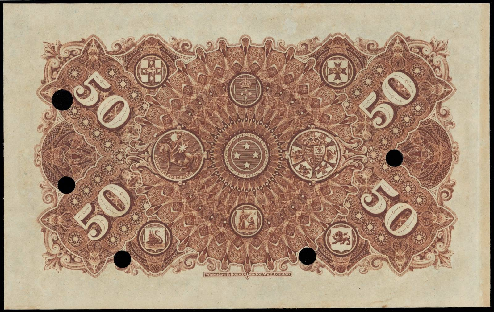 New Zealand 50 Pound Union Bank of Australia