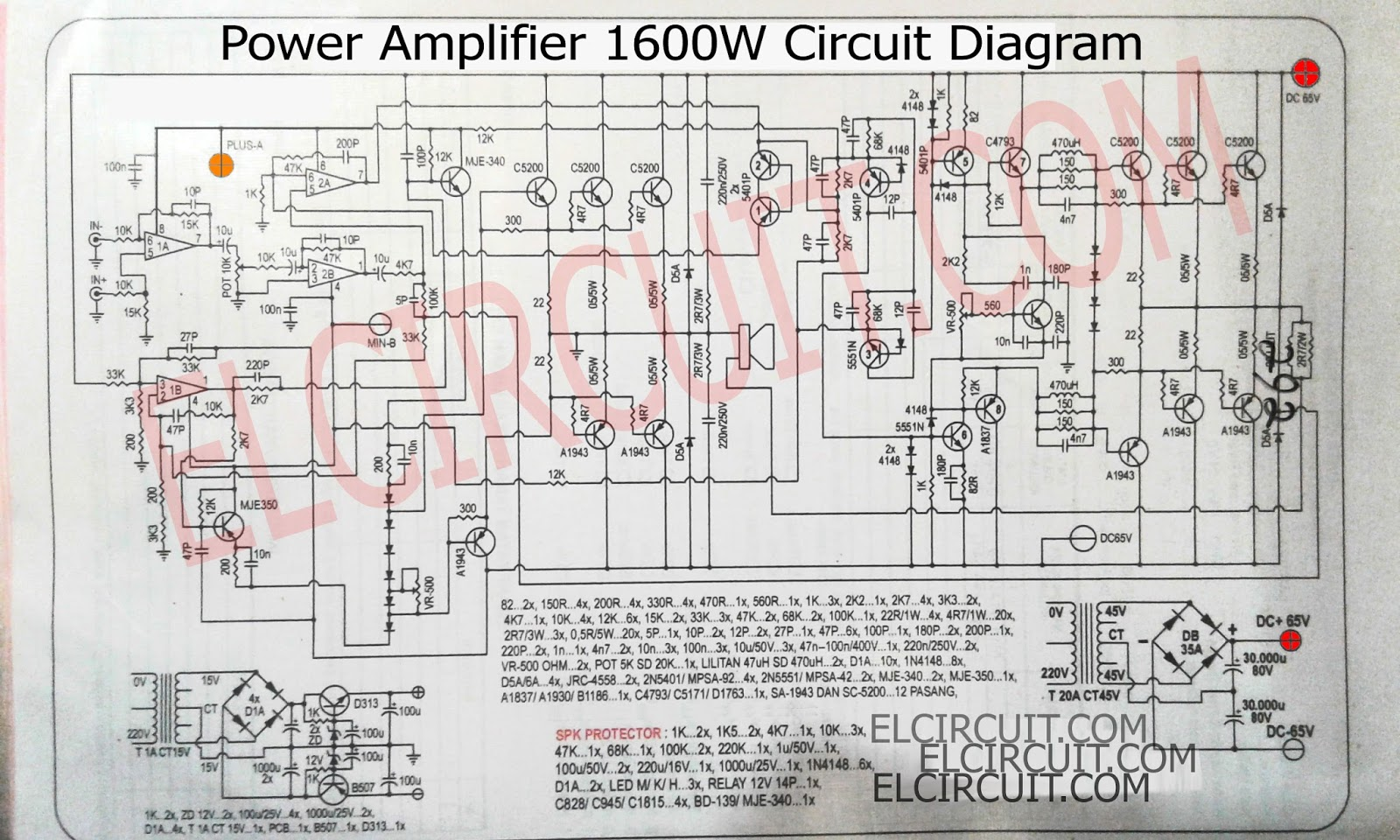 1600w High Power Amplifier Circuit Complete Pcb Layout