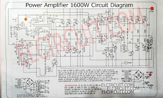1600W High Power Amplifier Circuit Diagram