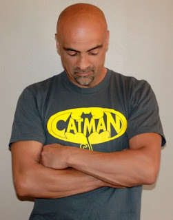 CatMan Symbol t-shirt, purrfect for any man who likes cats. Great Father's Day gift!