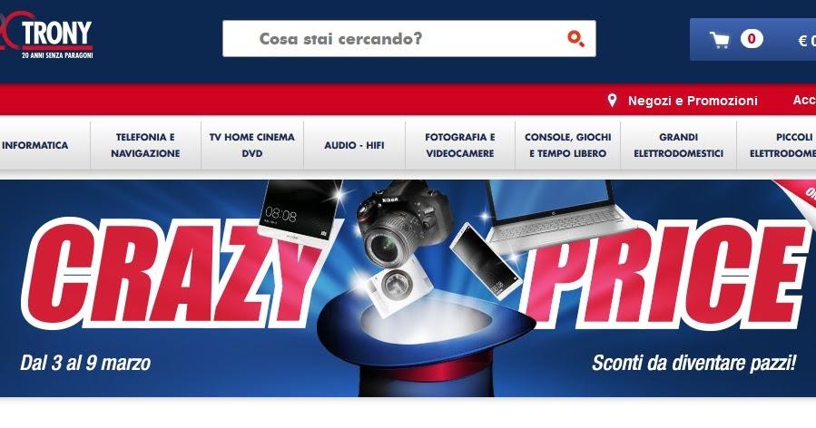 Sito trony promozione pazza valida dal 3 al 9 marzo for Magazzini telefonia discount recensioni