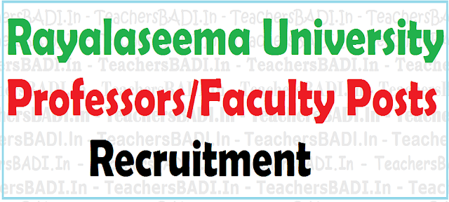 Rayalaseema University,Assistant,Associate Professors,Faculty Recruitment 2016