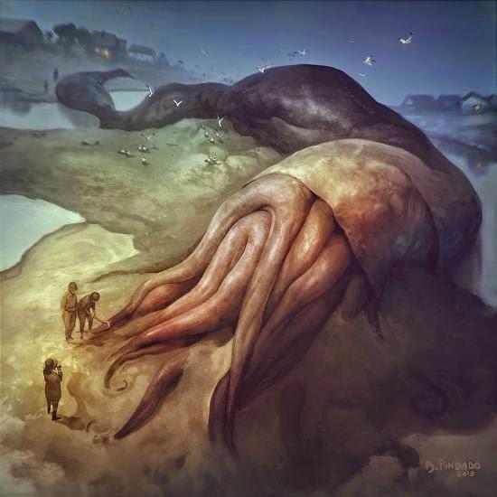 Borja Pindado deviantart ilustrações sombrias terror cósmico lovecraftiano HP Lovecraft mitos Cthulhu