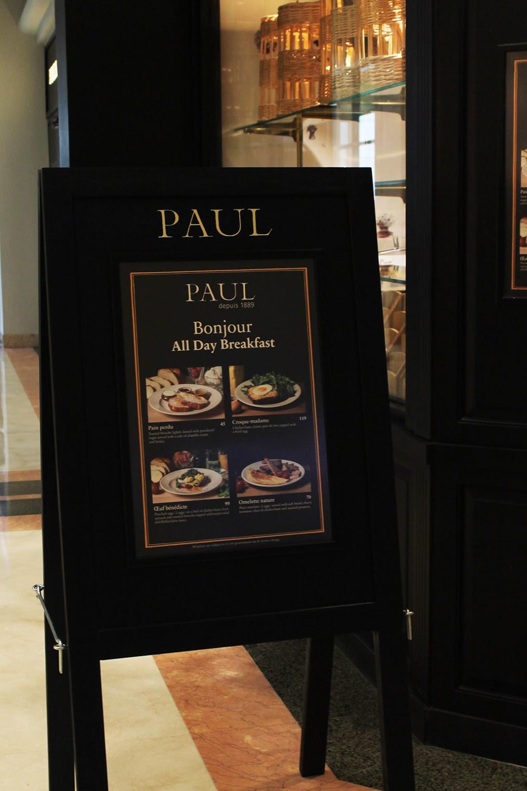 WONDERFUL DISH: PAUL Bakery & Patisserie - Plaza Senayan (New Branch)