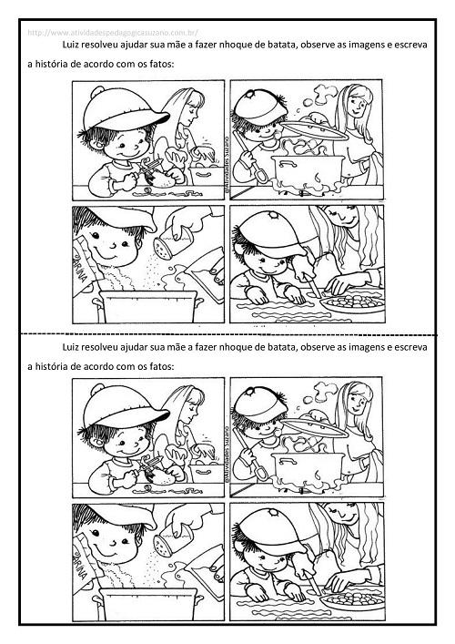 Sequência lógica, produção de texto, língua portuguesa