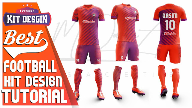 Best Dual Color Football Kit Design Tutorial in Photoshop cc 2019 by M Qasim Ali
