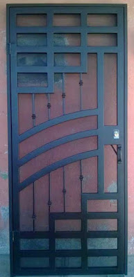 model pintu minimalis besi