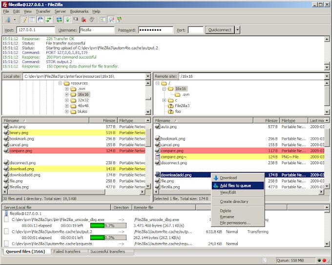 Filezilla - Δωρεάν διαχείριση αρχείων ιστοσελίδων