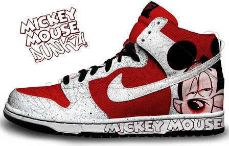 huge discount feb52 ee8b3 ... custom mickey mouse nike shoes ...