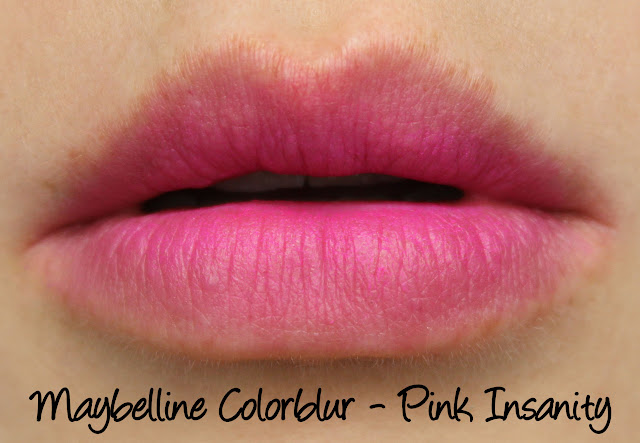 Maybelline Colorblur - Pink Insanity Swatches & Review