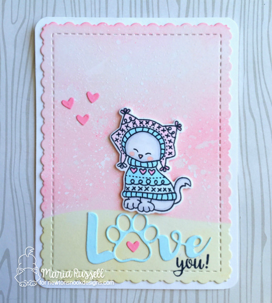 Love Card by Maria Russell featuring Sweater Weather by Newton's Nook Designs, #newtonsnook
