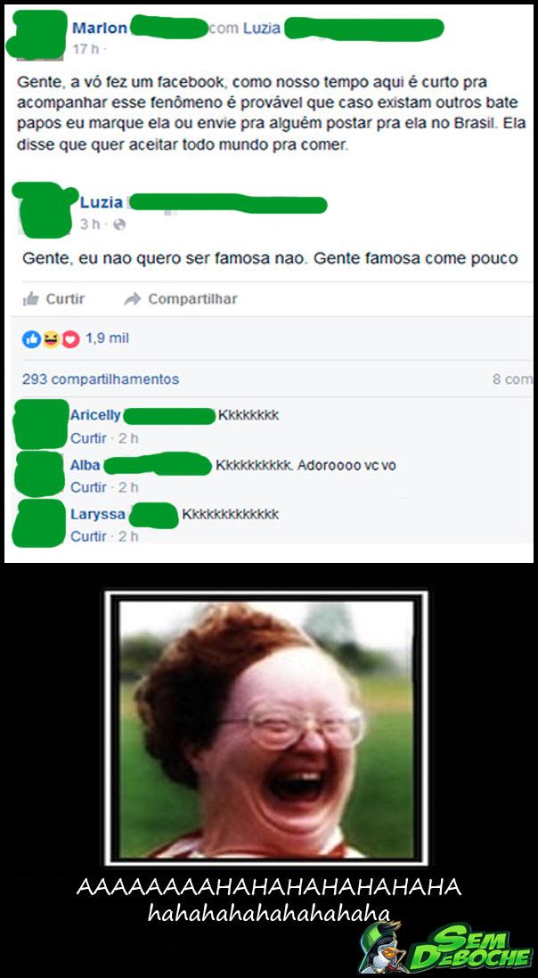 GENTE, A VÓ FEZ UM FACEBOOK