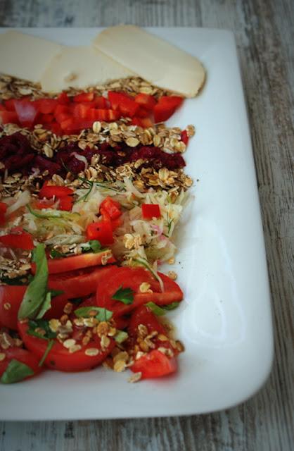 sałatki,szybkie sałatki,surówki,zdrowe sałaty,surówka z kapusty,oliwa z oliwek,olej z ostropestu
