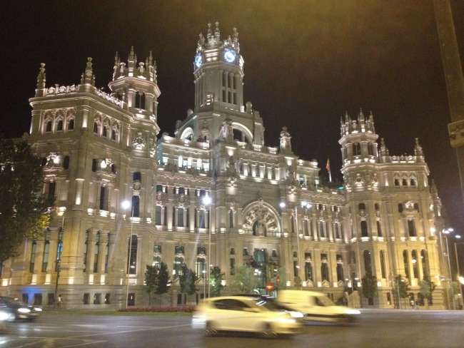 #Blogtober16-day-17-favourite-concert-you-have-attended-Cybele-palace-at-night-madrid
