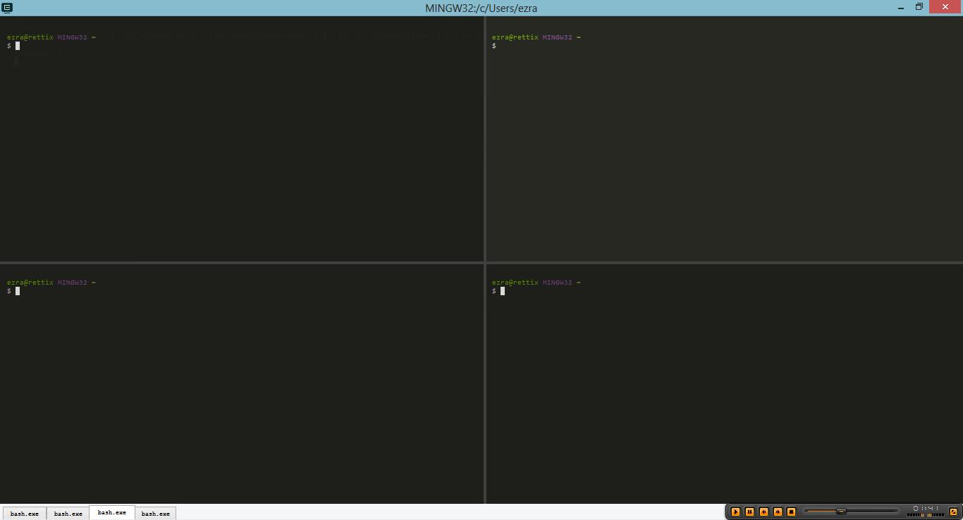 Multiple Layer CMD in Windows via CMDER - Also Linux in Windows