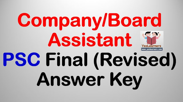 Company/Board Assistant - PSC Final (Revised) Answer Key