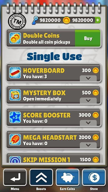 Download Subway surfers unlimited coins and keys hacked apk