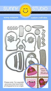 Sunny Studio Stamps: Warm & Cozy Winter Hat, Mittens & Hot Cocoa Low Profile Metal Cutting Dies