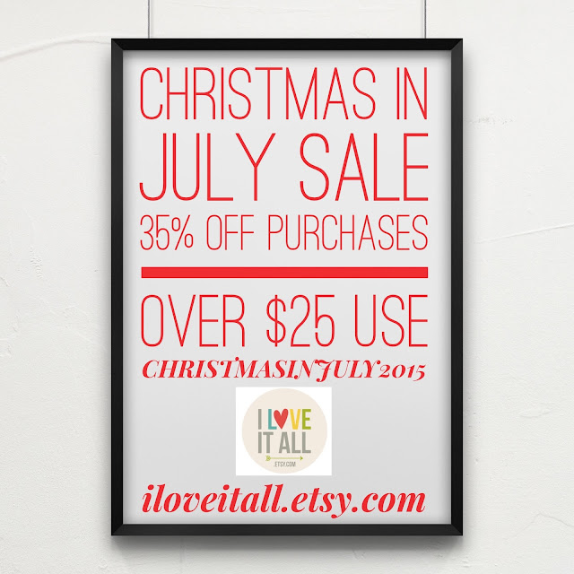 #christmas #sale #etsy #art #christmas in july #home decor