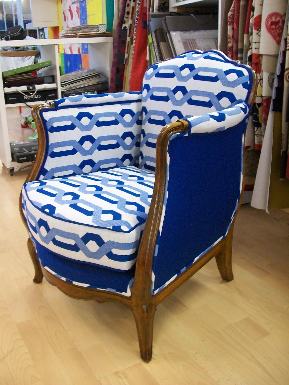 L 39 fauteuil berg re ann es 40 for Housse de fauteuil bergere