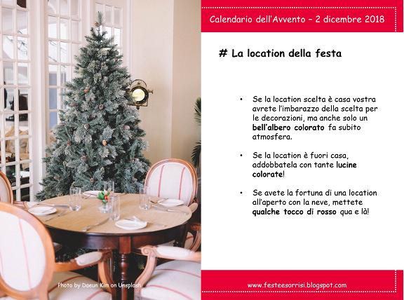 Calendario dell'Avvento - Consigli per decorare la location della festa di compleanno a dicembre