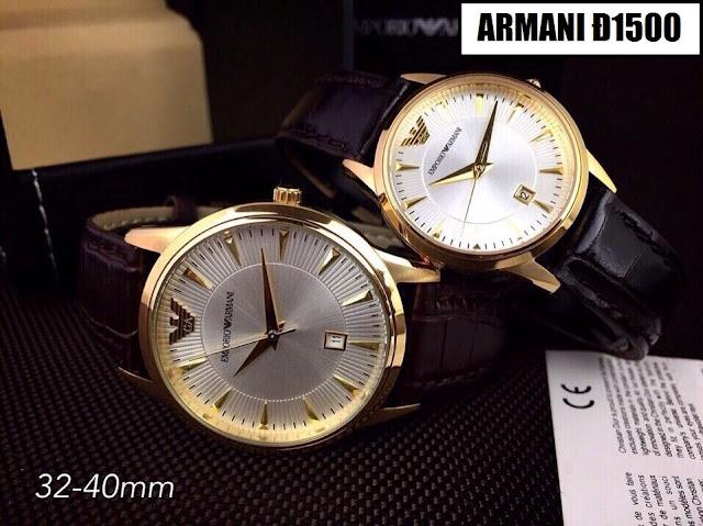 Đồng hồ dây da Armani Đ1500