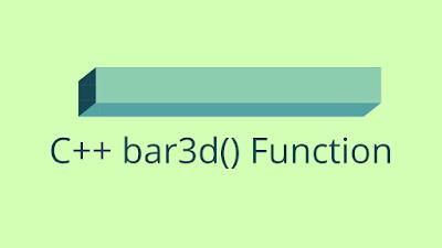 C++ bar3d() - Draw a 3D bar on the Screen