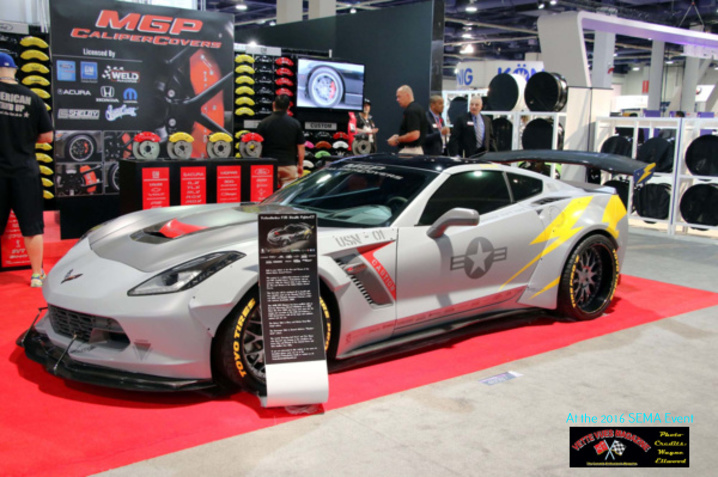 VetteSthetics Corvette-themed as a F35 stealth fighter was also on displayed at the 2016 SEMA event.