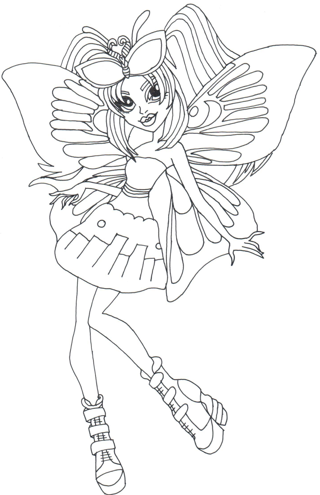 Free printable monster high coloring pages luna mothews for Print monster high coloring pages