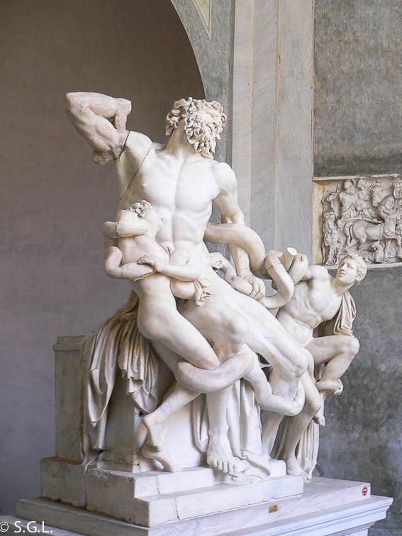 Escultura Laocoonte. Museos Vaticanos. 5 dias en Roma