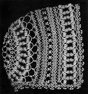 tatting lace, frivolité baby cap ann orr