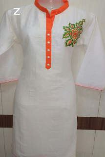 INDIAN SWAN INDEPENDENCE DAY SPECIAL KURTI – SAFFRON