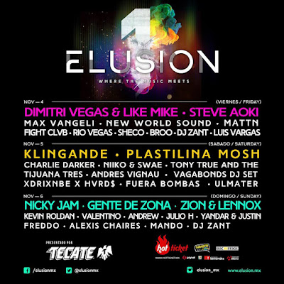 line up festival elusion 2016