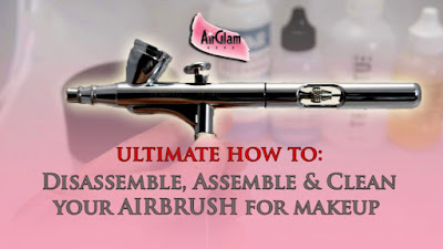 How to assemble, disassemble and clean your airbrush for makeup (with video tutorial)